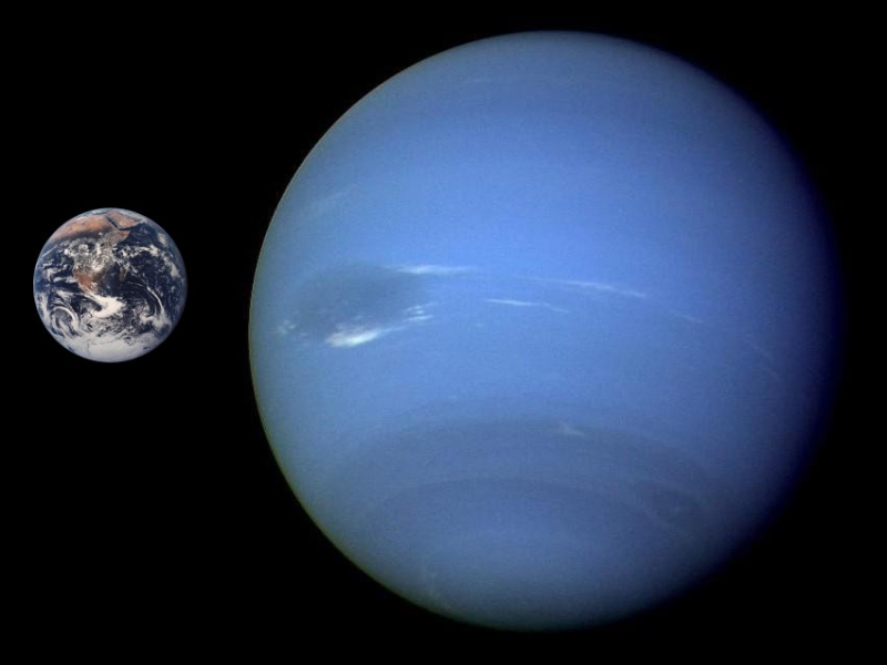 Wikimedia commons: Neptune Earth Comparison, NASA