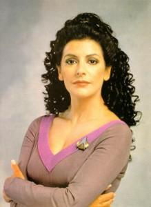 Marina Sirtis als Deanna Troi, © Gene Roddenberry, Paramount DT und CBS.