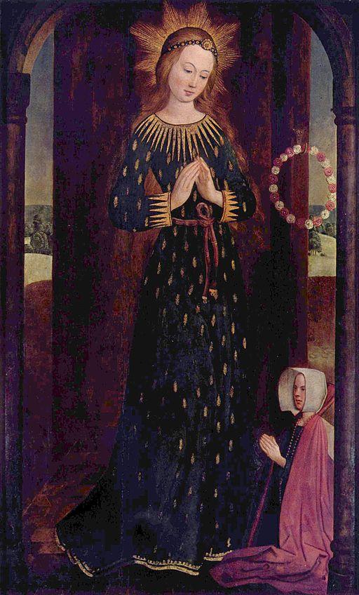 Maria im Ährenkleid, ca. 1450. Quelle: wikimedia Commons.