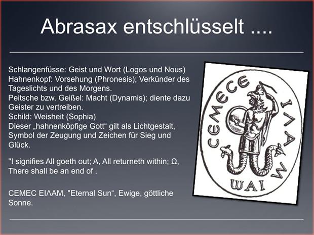 Schutzmagie: Abrasax- Abraxas - Abrakadabra.