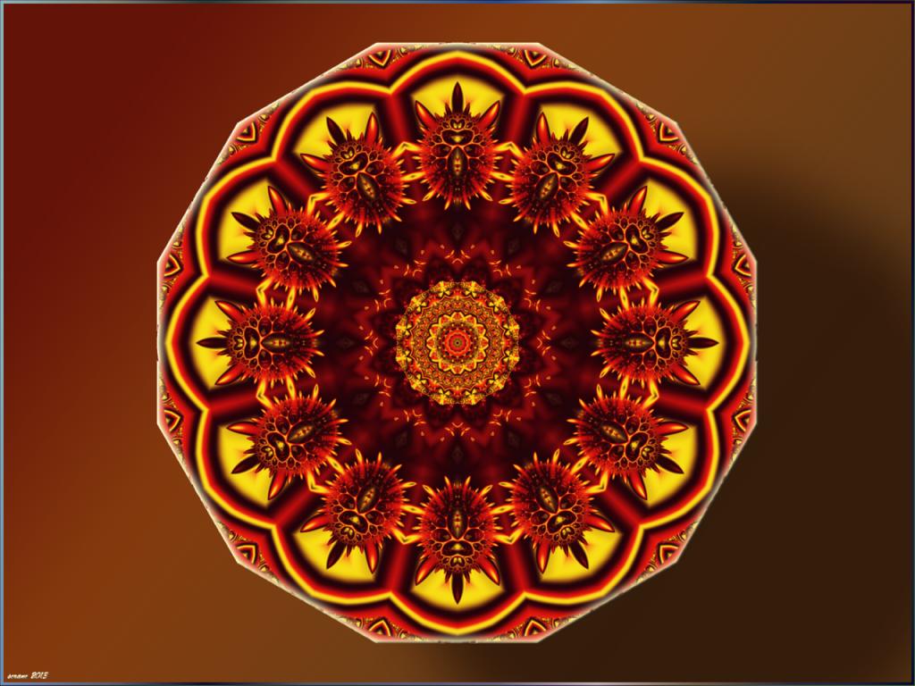 Mandala: Schild des Ares