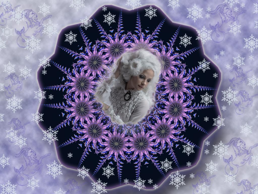 Lady Winter: Holle, Hera - Cerridwen, die Alte. Hier in ihrer hübschen Gestalt, der Schneekönigin.