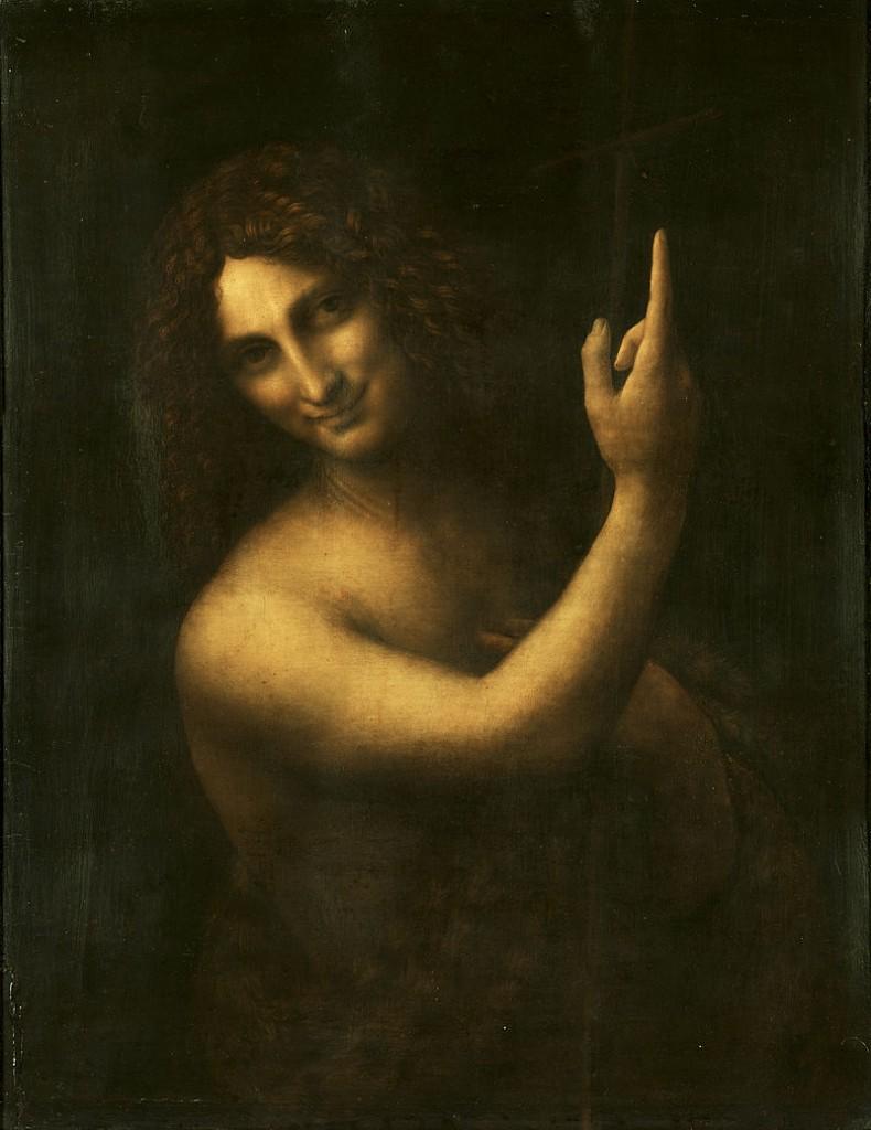 Leonardo da Vinci: Johannes der Täufer. Quelle Wikimedia commons.