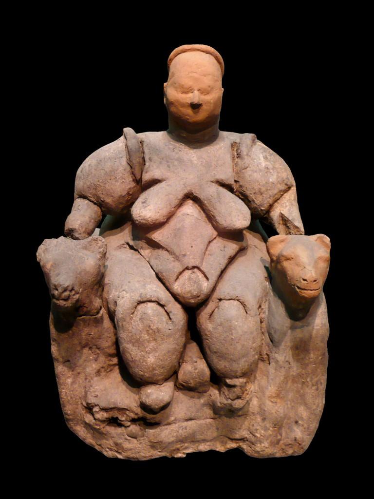 Eine Ur-Inanna? Catal Hüyük, ca. 8000 Jahre alt.