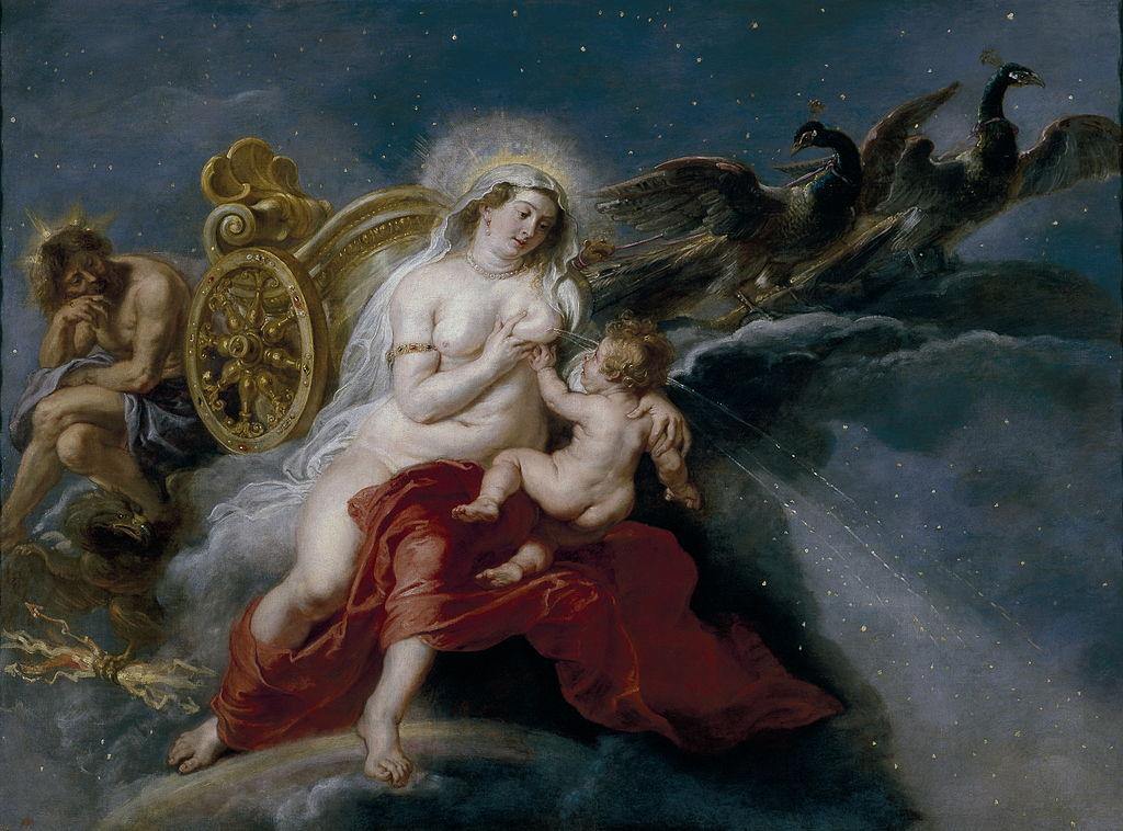 Peter Paul Rubens: Die Entstehung der MIlchstrasse aus dem Herklas-Mythos. 1637.