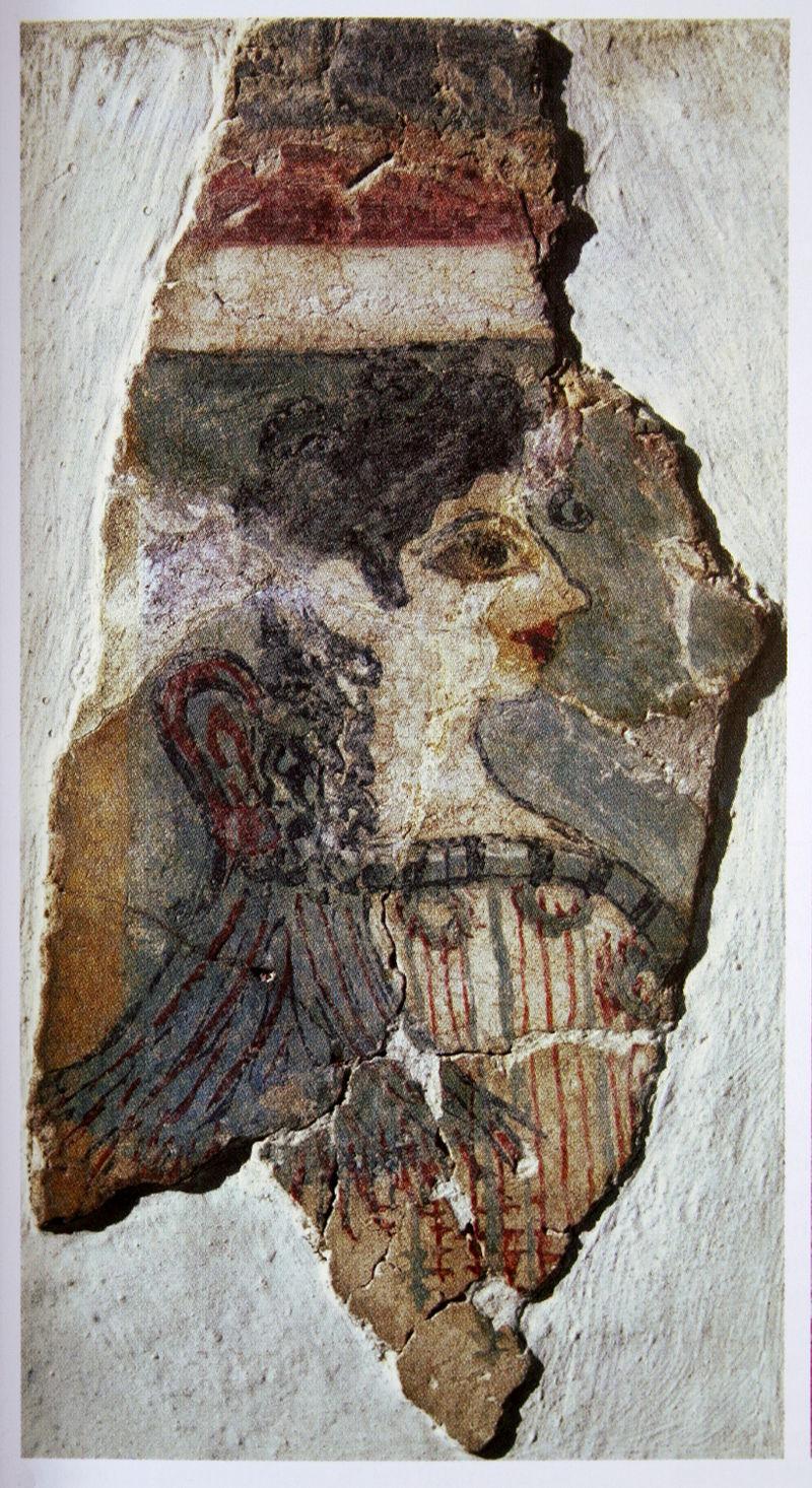 Minoische Priesterin.Fragment eines Sarkophagschmucks.
