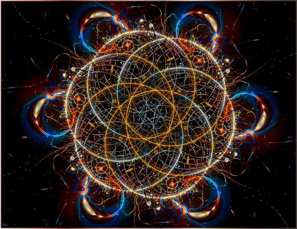 Fraktale Blume des Lebens - eine geometrische Figur, der von Neu-Esoterikern eine mystische Bedeutung zugeschrieben wird …