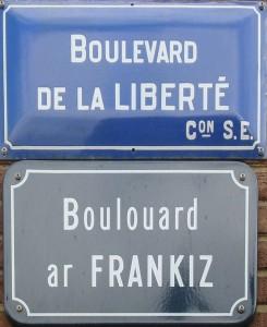 Strassenschild in Rennes