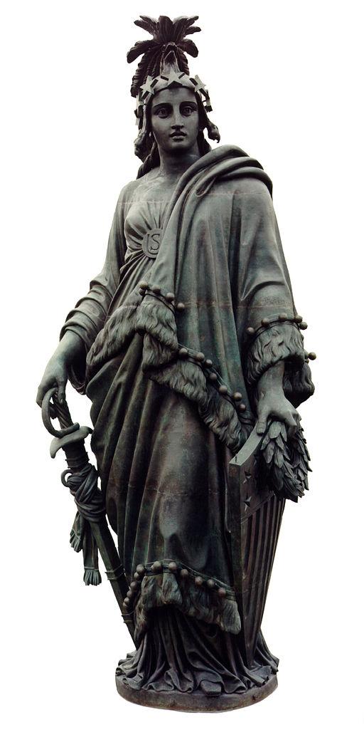 Lady Liberty in ihrer Urform - auch der Umhang sieht eher indianisch aus.quelle:wiki