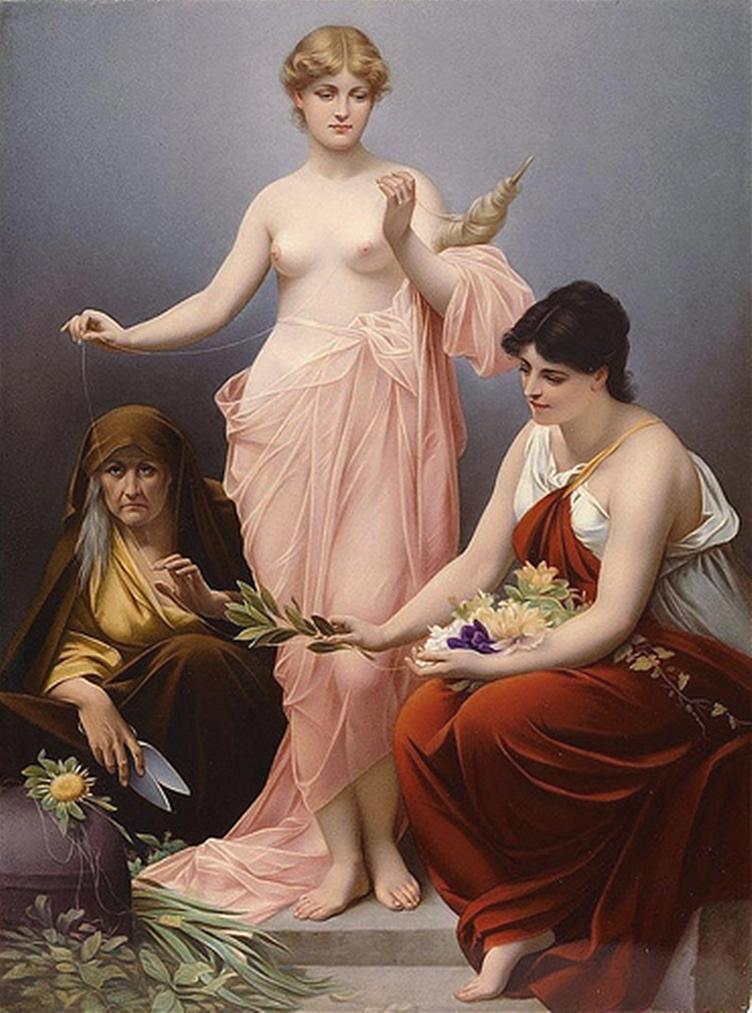 Paul Thumann (1834-1908) Drei Parzen