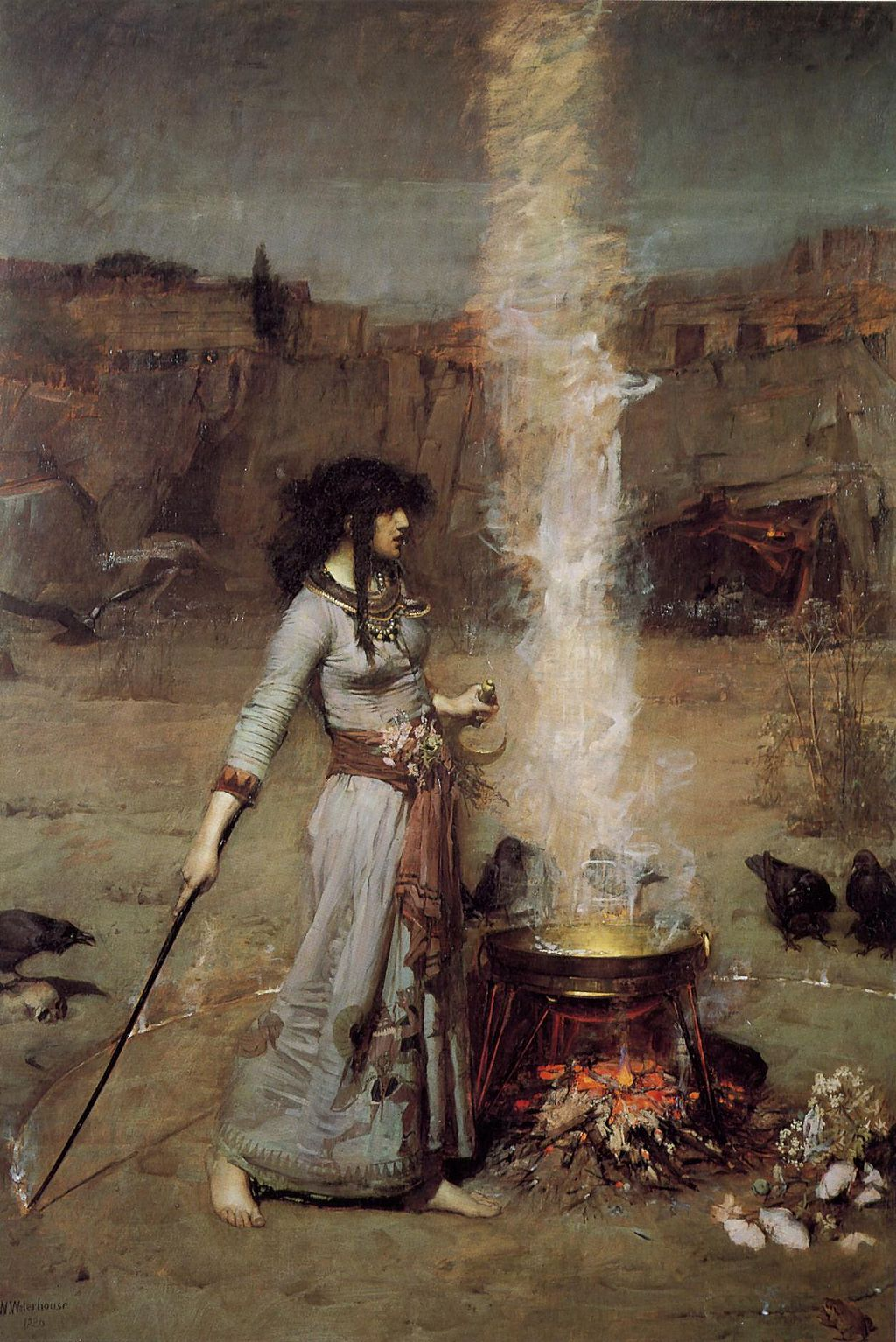 The Magic Circle, John William Waterhouse [Public domain], via Wikimedia Commons