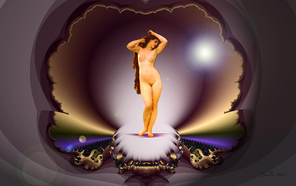 Venus in a Fractal Shell, nach Bougereau.©scrano 2013