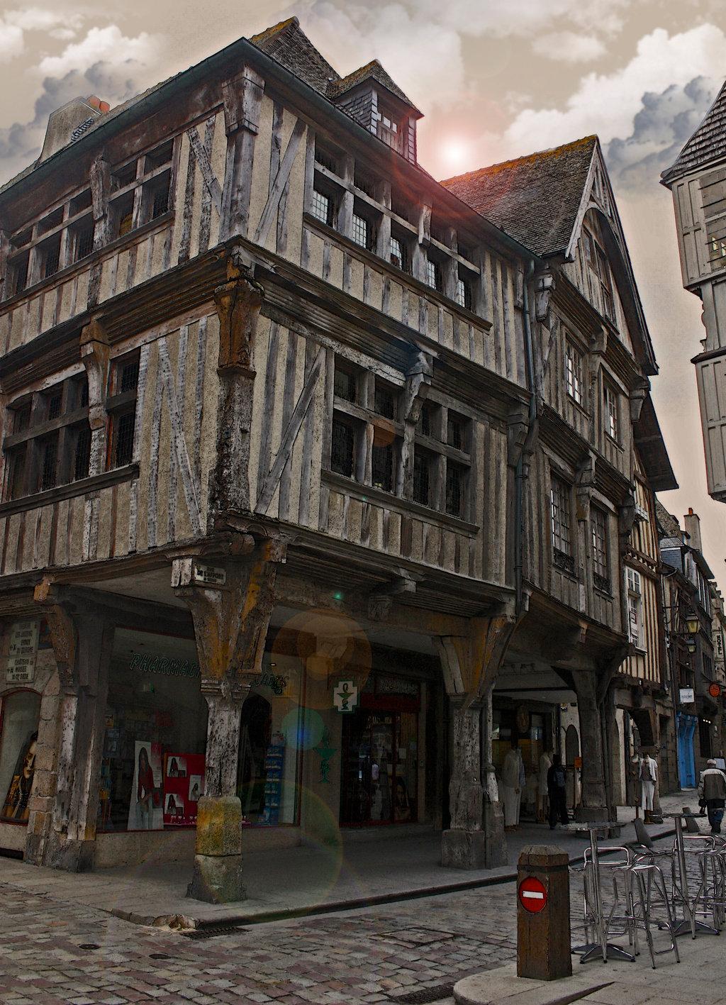 Mittelalterliches Fachwerkhaus  Haus in Dinan.