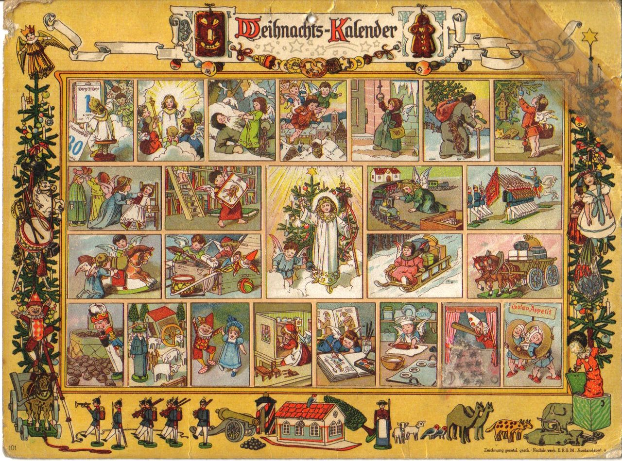 Adventskalender. ca 1900.