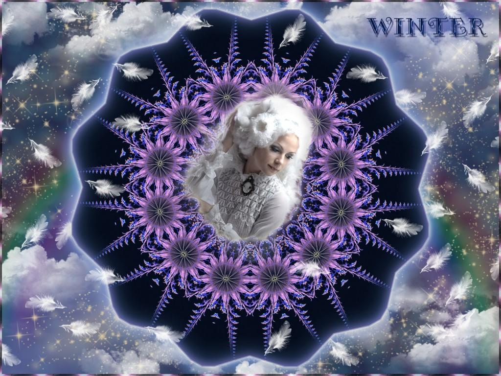 Lady Winter: Holle, Hera - Cerridwen, die Alte.Hier in ihrer hübschen Gestalt, der Schneekönigin.Frau Holle ©scrano 2015