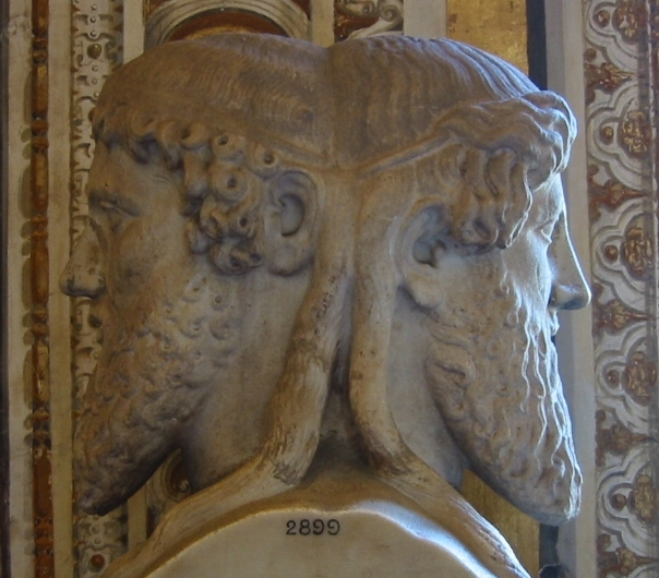 Januskopf aus der vatikanischen Sammlung.