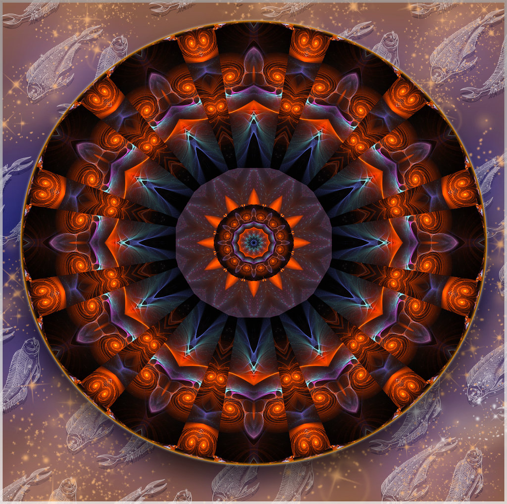 Spirtuelles Feuer aus den Tiefen.Divine Vision ©scrano 2014