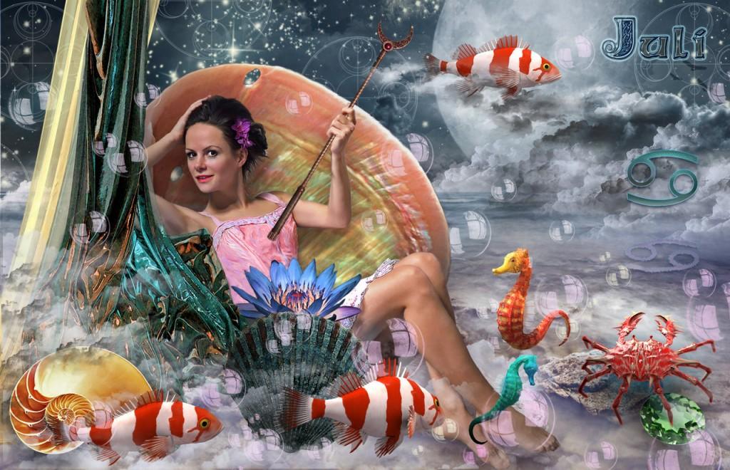 Mutter Ozean und Mondin beherrschen Juli.Juli ©scrano 2015