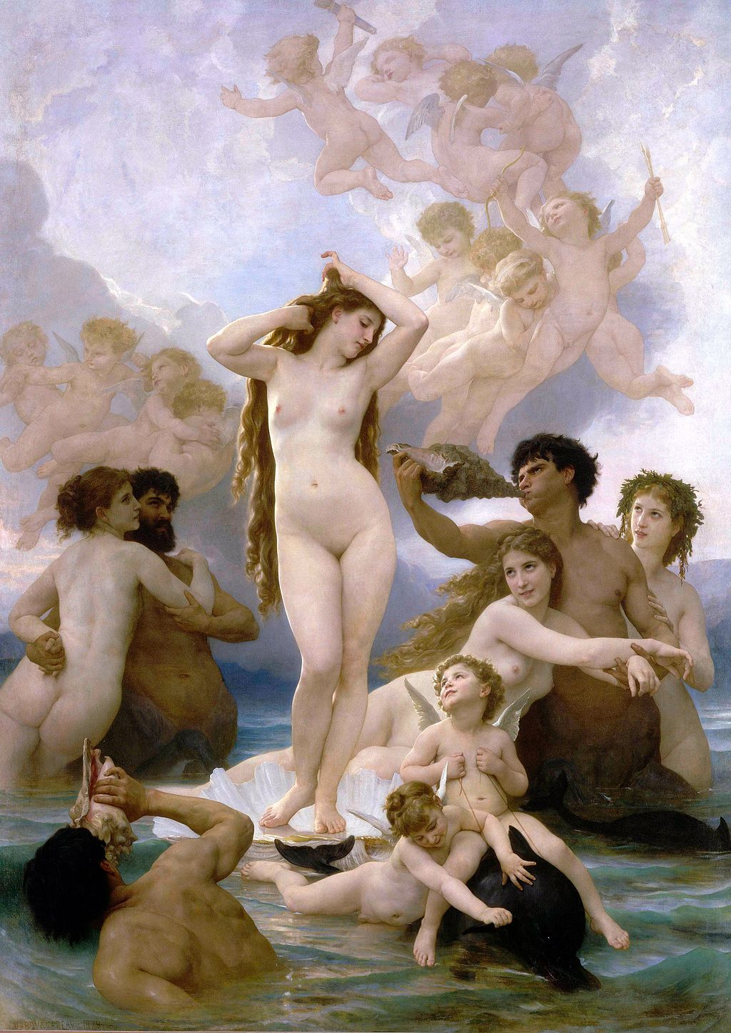 Bouguereau 1825-1905) The Birth of Venus (1879)quelle:wiki
