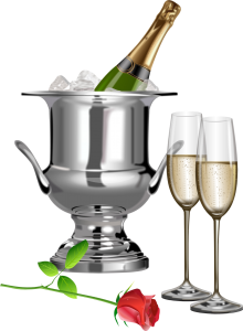 Champagne_Champagne_Flutes_and_Rose_Transparent_Clipart