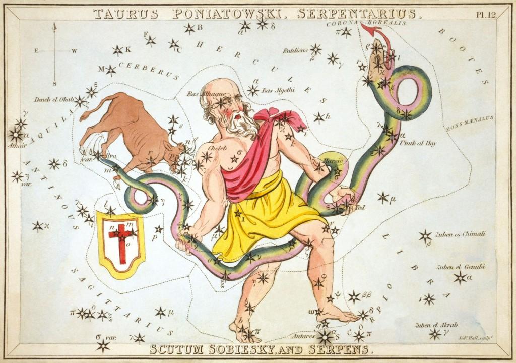 Ophiuchus - Asklepiosquelle:PD via wiki