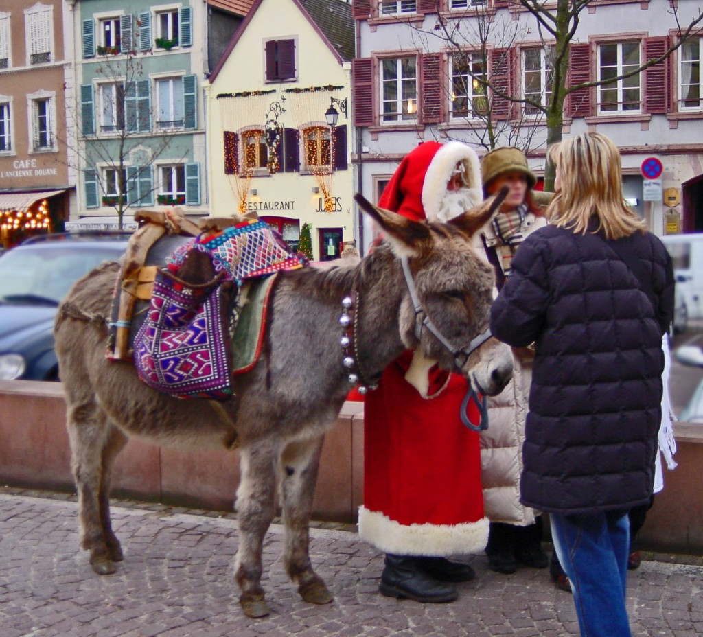 Santa ist bereits im Elsass angekommen.Colmar: Adventsmarkt 2007
